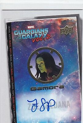 Zoe Saldana Gamora Upper Deck Guardians of the Galaxy Vol 2 Auto Autograph MT15