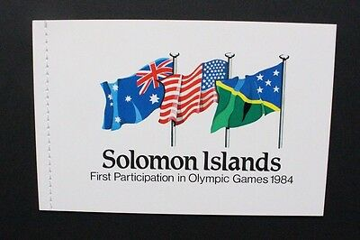 SOLOMON ISLANDS 1984 Olympic Games Los Angeles. BOOKLET. Mint Never Hinged SGSB7