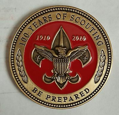 100 YEARS OF SCOUTING ( RED ) BSA Geocoin