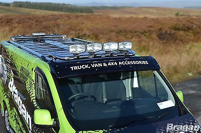 To Fit 2014+ Ford Transit Front Low Flat Roof Light Bar Van With Spots and LEDs