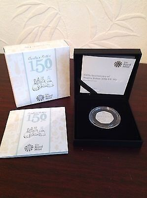 2016 SILVER PROOF ROYAL MINT BEATRIX POTTER 50p ONLY 7500.MINTED RARE