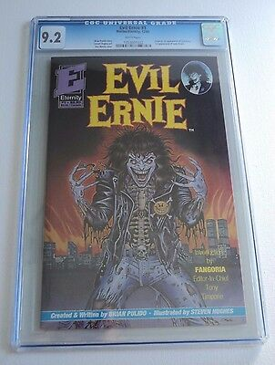 EVIL ERNIE # 1 CGC 9.2 NM 1st Appearance Lady Death low print WHITE PAGES RARE