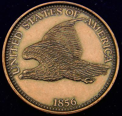 Large 3-Inch Novelty Medal/Coin/Coaster, Looks like the 1856 Flying Eagle Cent