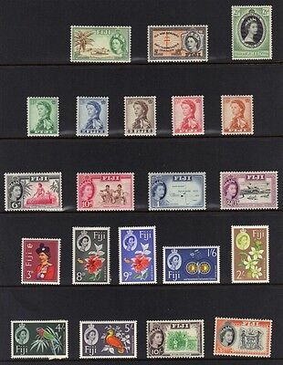 Fiji 1954-65 Coll. Of 41 Queen Elizabeth Issues To £1 All N.h.