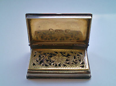 Antique Georgian Sterling Silver Book Shaped Vinaigrette c1836 - Taylor & Perry