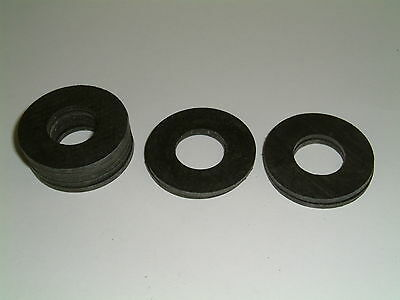 10 Rubber Washers 36.6mm O/D X 17mm I/D X 2.2mm Thk