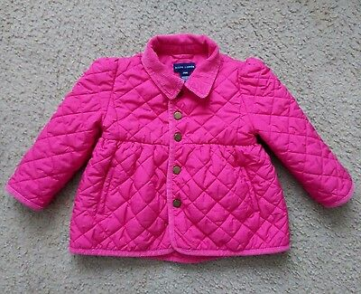 Polo Ralph Lauren Girls Size 24 Months Pink Quilted Coat Jacket