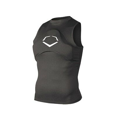 EvoShield Men's Adult or Youth Gel to Shell Chest Guard Sleeveless Shirt, S-L