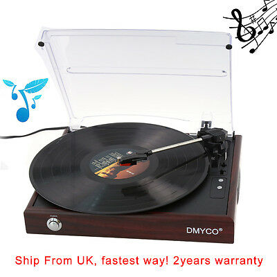 3 Speed Retro Vinyl Record Player Digital Conversion Turntable USB Stereo System