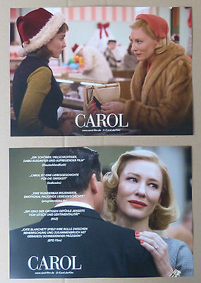 CAROL - Lobby Cards Set of 6 - Cate Blanchett, Rooney Mara, Kyle Chandler