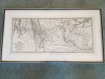 Lewis and Clark Map from Original Copper Plate 1814 Engraving Saml. Harrison,fct