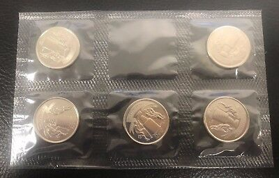 2017 25 Cent Circulation Coin - 125Th Anniversary Stanley Cup Five 5 Coin Pack