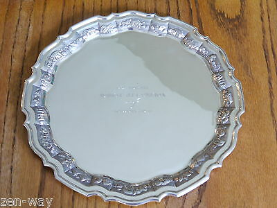 925 Sterling Silver Chippendale Presentation tray, treasure. Voltas Lt. Bombay.