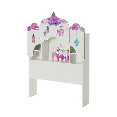 Vito Twin Bookcase Headboard (39'') with Decals, Royal Palace Themed, Pu - 10099
