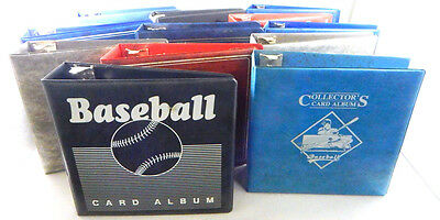 """Lot of (12) Used 3"""" Card Collector Albums ~ 3-Ring Binder Notebooks"""