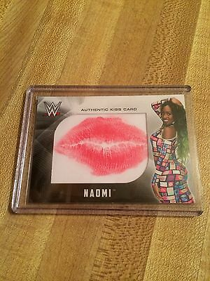2017 Wwe Topps Naomi Authentic Kiss Card Wwf Wcw Smackdown Womens Champion Lips