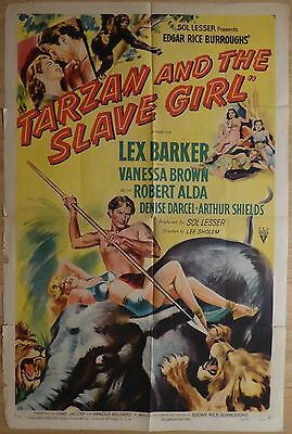 TARZAN AND THE SLAVE GIRL (1950) - original US 1 sheet film/movie poster, jungle