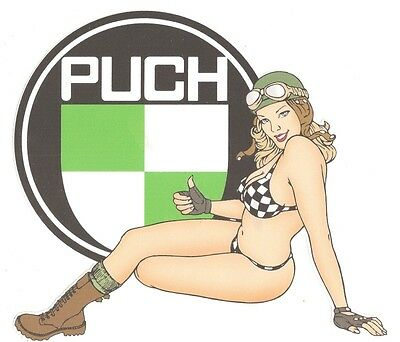 PUCH left Pin Up gauche Sticker