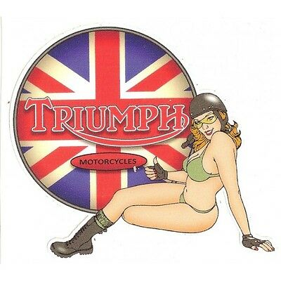 TRIUMPH left Pin Up gauche Sticker