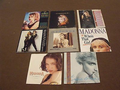 "Madonna - Large Lot Of  7"" Vinyl Singles - Some Rare -  Vg+/mint"