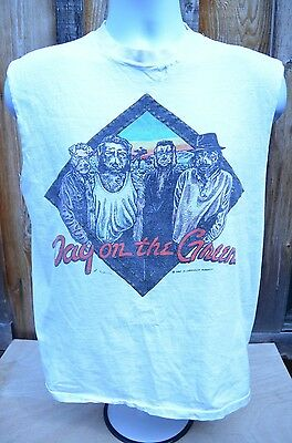 VTG 80's U2 THE PRETENDERS BO DEANS DAY ON THE GREEN T SHIRT - LARGE TOUR BAND