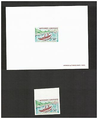 Gabon Stamps  Scott# 256 Deluxe Proof 1969 Plus Imperf Stamp