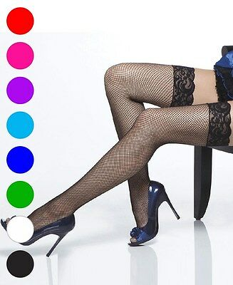 Plus Size Lace Top Fishnet Thigh High Stockings - Coquette 1732X