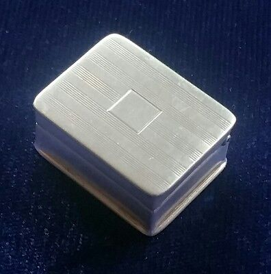 Vintage Sterling Silver Volupte Marked Pill Box