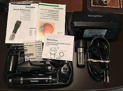 WelchAllyn Retinscope Diag Kit + Adapter+ Desk Charger Lot Complete Very Good VG