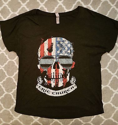 Eric Church Ladies Charcoal Gray T-Shirt Size Medium