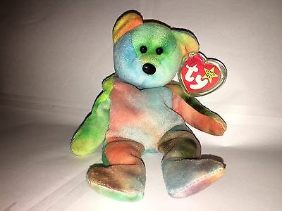 TY 1993 Garcia the Bear the Beanie Baby - Beautiful Colors NEW Old Stock RARE