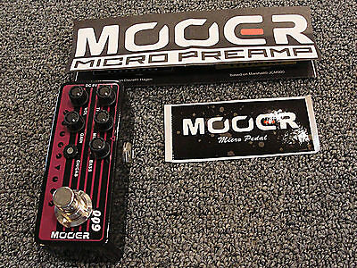 Mooer Micro Preamp 009 Blacknight Guitar Effects Pedal Based on Engl Blackmore