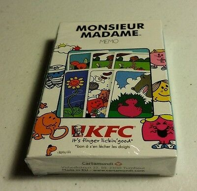 KFC Mr Men/Little Miss Memory Cards French Edition - Free Postage