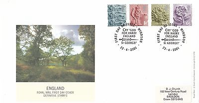 (01215) CLEARANCE GB England FDC 65p E 1st 2nd Tallents 23 April 2001