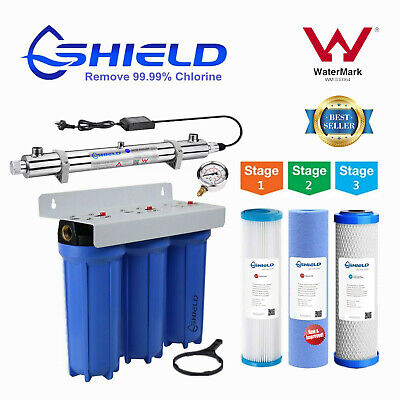 "Whole House Water Filter System 10"" x 2.5"" Ultraviolet UV Sterilizer 30LPM UV-25"