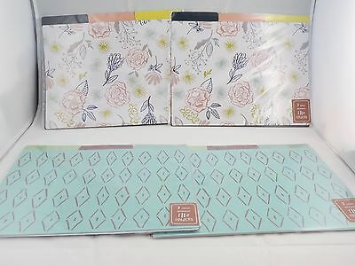 Lot of 4 packs Target One Spot Floral Watercolor Folders Office Planner Addicts
