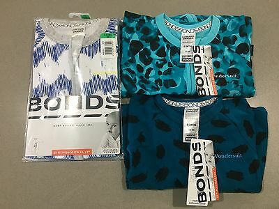"Bonds Baby Boy Zippy Wondersuits 3 Bundle Bulk ""TEETER LEOPARD'' BNWT Size 000"