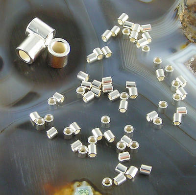 500 ea STERLING SILVER FILLED  2x2mm Crimp Tube Beads