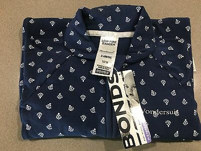 Bonds Baby Zippy Zip Wondersuit Newbies ''NAVY BLUE ANCHORS'' Boys BNWT Size 00
