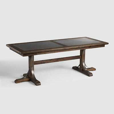 Wood Large Dining Kitchen Table Vintage Country Rustic Old Style Home Furniture