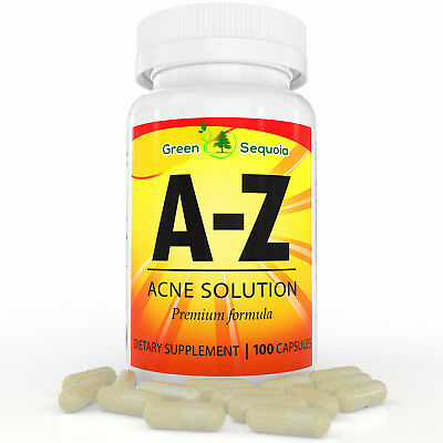 Powerful Acne Pills For Hormonal And Cystic Acne Treatment, 100 Capsules