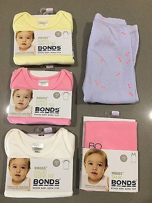 Bonds Baby Ribbies Tights Leggings Shirt Bundle (5 Items) Boy Girl BNWT Size 0