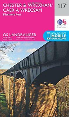 Landranger (117) Chester & Wrexham, Ellesmere Port (OS Landranger Map) by Ordnan