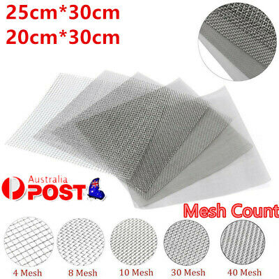 4/10/50/100 Mesh 304 Stainless Steel Woven Wire Filtration Filter Sheet 20x30cm