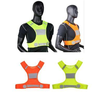 Safety High Visibility Reflective Running Vest Jogging Bike Cycling Walking Work