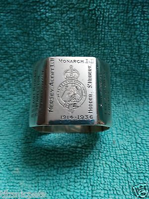 White Star Line Titanic related CS Minia cable ship napkin ring Marconi Wireless