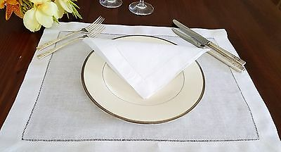 Placemats with hemstitch. Wedding table setting. 1 piece.