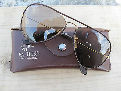 Vintage Ray Ban B&L U.S.A. Leathers Changeable  Aviator Sunglasses