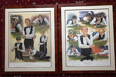 Kings Of The Baize 1 And 2 Snooker Print Steve Davis By Peter Deighan
