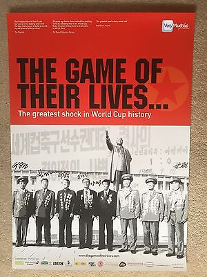 North Korea World Cup 1966 Game Of Their Lives Poster Signed By 8 Players